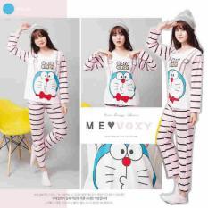 Tips Beli Piyama Doraemon Full Stripe Pink