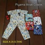 Review Piyama Katun Anak Cowok Size 4 Zilla