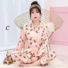 Piyama Panjang Celana Sleepwear Baju Tidur Cassia Wanita Muslim Satin