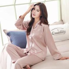 Piyama Panjang Set Baju Tidur Wanita Muslim Bajutidur Satin Elegan
