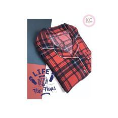 Piyama Wanita Baju Celana Tidur Daster Couple Dewasa Katun Satin Scott - 699E7B