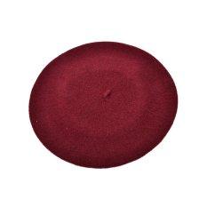 Daftar Harga Plain Beret Hat Bahasa Perancis Beret Musim Gugur Musim Dingin Girls Fashion Topi Merah Anggur Internasional Oem