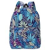 Beli Plant Print Kanvas Zipper Portable Ransel Untuk Gadis Intl Online Terpercaya