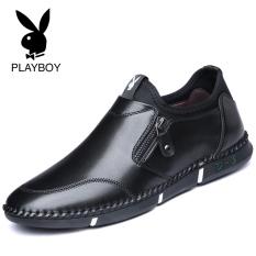 Playboy Baru Pria Bisnis Kasual Sepatu Kulit Sepatu Pria (7CX022006D Hitam)