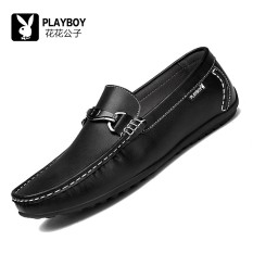 PLAYBOY Sepatu Mengemudi Inggris Satu Sepatu Kulit Casual Pria
