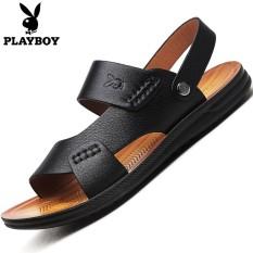 PLAYBOY Kasual Ayah Pantai Sandal Summer Sepatu Pria (Hitam [Klasik Versi])