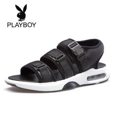 Playboy Kasual Baru Siswa Musim Panas Sandal Sandal Musim Panas (Hitam)