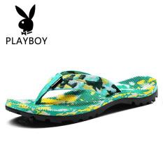PLAYBOY Sepatu Wanita Kasual Musim Panas Sandal Wanita Catokan (Cahaya Fluoresensi Hijau)