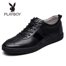 Playboy Korea Modis Gaya Kulit Sepatu Kets Pria Sepatu Pria (Hitam)
