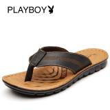 Beli Barang Playboy Sandal Jepit Luar Rumah Musim Panas Sendal Kulit Pria Hitam Koleksi Setelah Pembelian Untuk Mengirim Sabuk Kulit Online