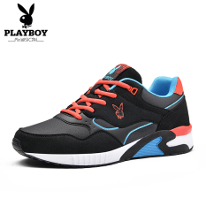 Playboy Sepatu Lari Pria Santai Versi Korea Hitam Safir Biru Hitam Safir Biru Asli