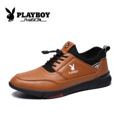 Playboy Korea Modis Gaya Sepatu Kulit Pria Sepatu Pria (Cokelat)