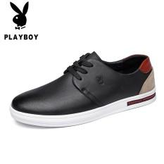 Playboy Kulit Musim Semi Baru Bernapas Formal Sepatu Kulit Sepatu Pria (Hitam (Renda))