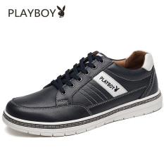 PLAYBOY Kulit Musim Semi Dan Musim Gugur Baru Pria Kasual Sepatu Kulit Sepatu Pria (Total CX39772 Biru)