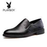 Promo Playboy Kulit Putaran Menginjakkan Kaki Lembut Sepatu Sepatu Pria Hitam