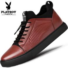 Playboy Musim Gugur atau Dingin Baru Sepatu Sepatu Sepatu Pria (Merah Keunguan)