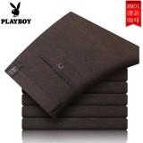 Beli Playboy Musim Panas Hijau Musim Panas Bagian Tipis Setengah Baya Celana Formal Pria Celana Cargo Kopi Play Boy Asli