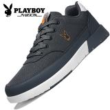 Beli Playboy Tren Bernapas Ayah Sepatu Pria Abu Abu Gelap Pakai Kartu Kredit