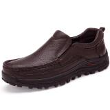 Toko Plus Ukuran 38 48 Fashion Pria Sepatu Formal Mewah British Kulit Asli Brown Intl Other Tiongkok