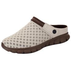 Plus Ukuran 39-46 Pria Sandal Musim Panas Musim Semi Pria Mesh Hollow Garden Sepatu Non Slip Bernapas Sepatu Pantai- INTL