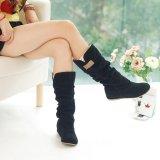 Toko Plus Ukuran Botines Wanita Winter Boots Untuk Wanita Di Atas Lutut Tinggi Paha Boots High Heel Suede Boots Botas Mujer Femininas Intl Online