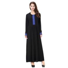 Plus Ukuran Bordir Muslim Wanita Gaun Panjang Islam Wanita Patchwork Malaysia Robe Abayas-Intl