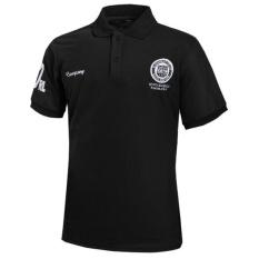 Baru Ukuran Plus Pria Fashion T Shirt Lengan Pendek Slim Fit Sport Casual Cetak Musim Panas Polo Shirt Tops (HITAM) -Intl