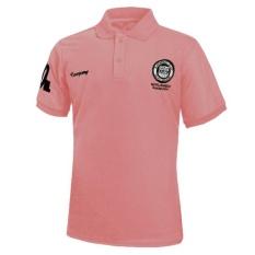 Baru Ukuran Plus Pria Fashion T Shirt Lengan Pendek Slim Fit Sport Casual Cetak Musim Panas Polo Shirt Tops (pink) -Intl