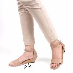 Pluvia - Sepatu Sandal Wedges Wanita Terbaru KKS07 - Mocca