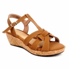 Beli Pluvia Malia Wedge Sandals Mg05 Tan Online Terpercaya