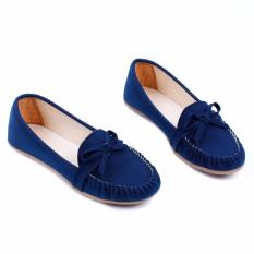 Review Pada Pluvia Sepatu Flat Shoes Loafers Jr12 Navy