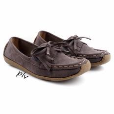 Harga Pluvia Sepatu Flat Shoes Loafers Wanita Us103 Abu Asli Pluvia