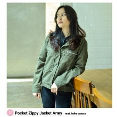 Pocket zippy Jacket Army