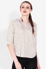 Point One  Women Clothing Tops Blouses & Shirts  Wanita Busana Atasan Blus & Kemeja Multicolor Kombinasi Diskon discount murah bazaar baju celana fashion brand branded
