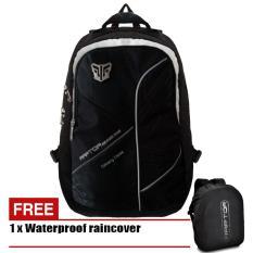 Harga Tas Ransel Laptop Pria 18 Inchi 6035 Bahan Cordura Waterproof Original Black Raincover Yang Murah