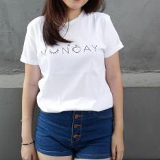 POLARISSHIRT - T-shirt MONDAY Tumblr Tee Cewek / Kaos Wanita / Tshirt Cewe Cotton Combad / Kaos Oblong / Trending Shirt