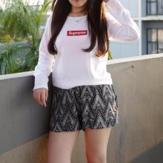 POLARISSHIRT - Tshirt SUPREME Lengan Panjang Longsleeve Cewek / Kaos Wanita / Tshirt Cewe Cotton Combed Kaos Cewek