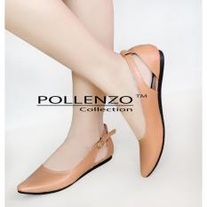 Penawaran Istimewa Pollenzo Christabel Flat Shoes Camel Terbaru