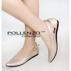 Jual Pollenzo Christabel Flat Shoes Cream Pollenzo Di Jawa Barat