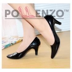 Pollenzo  Sepatu Kantor / Sepatu Kerja / Sepatu Murah Glossy 001/BLACK