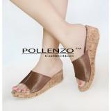 Spesifikasi Pollenzo Cordelia Wedges Brown Bagus