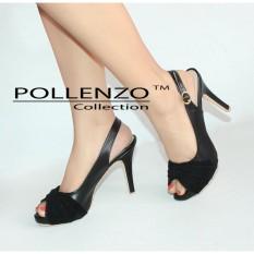 Diskon Pollenzo Elma Heels Sepatu Sandal Slingback Branded