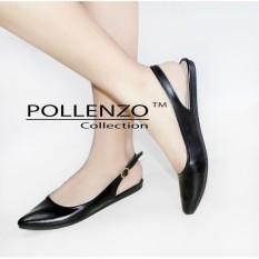 Jual Pollenzo Flats Shoes Selop Wanita Loafers Tali Slingback Baru