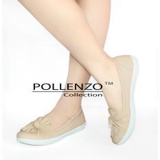 Toko Pollenzo Flats Shoes Sepatu Pita Cream Terdekat
