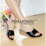 Cuci Gudang Pollenzo Florentino Wedges Black