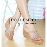 Beli Pollenzo Glaudia Sandal Wedges Double Strap Nyicil