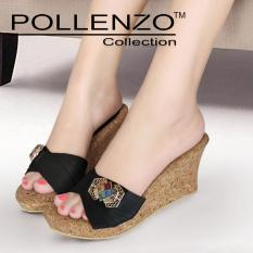 Model Pollenzo Oleander Wedges Dm 403 Black Terbaru