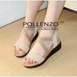 Jual Pollenzo Platform Sendal Karet Trendy Cream Satu Set