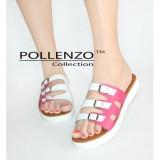 Harga Pollenzo Sandal Klasik Flats Wanita Kronjo Pollenzo Ori