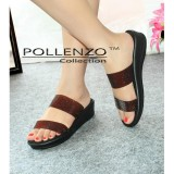 Jual Pollenzo Sandal Santai Double Strap Branded Original